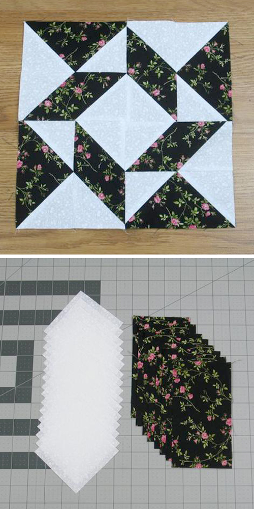 Windblown Quilt Block - Free Pattern