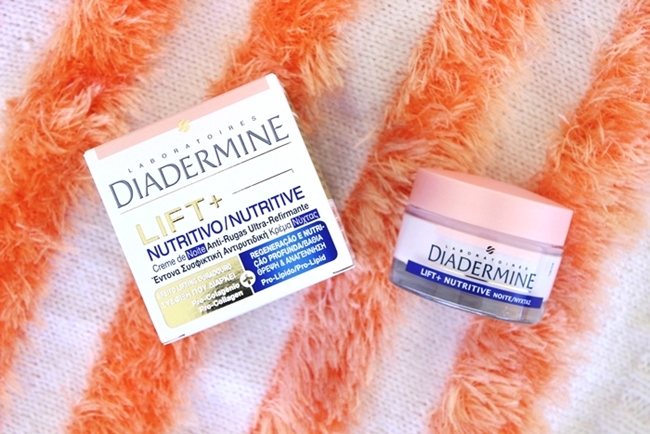 Diadermine LIFT+ nutrition nourishing anti-wrinkle night cream with pro-collagen and pro-lipids.Diadermine lift+ nocna krema protiv bora.