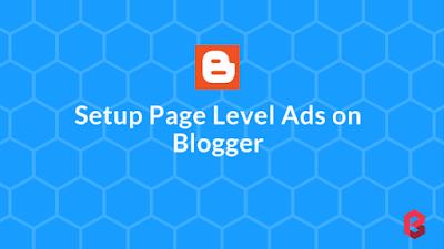 setup page level ads on blogger