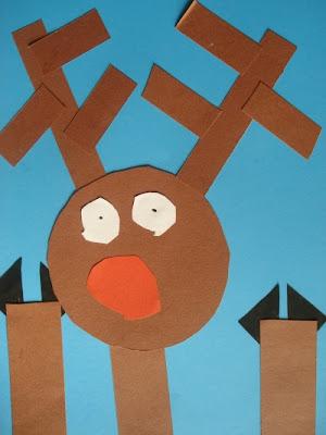 Collage con formas geométricas de Rudolph