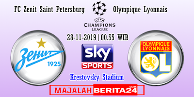 Prediksi Zenit St. Petersburg vs Lyon — 28 November 2019