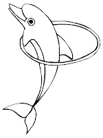 Dolphins printable coloring pages