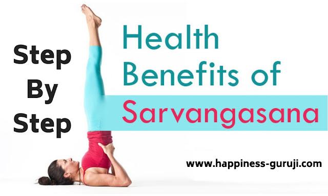 सर्वांगासन, सर्वांगासन कैसे करें? इसके फायदे? also tell about What is yoga on www.happiness-guruji.com