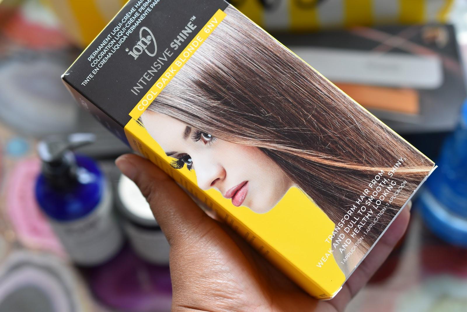 ion Intensive Shine Hair Color Kit 6NV Cool Dark Blonde
