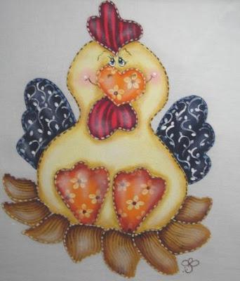 pintura em pano de prato galinha pintura em tecido