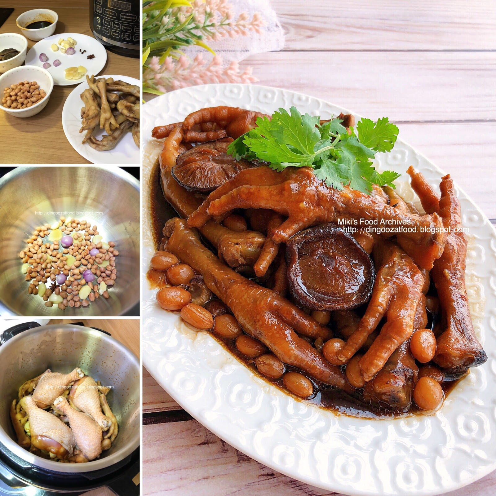 Blogspot Food Blog Miki S Food Archives Braised Chicken Feet With Mushrooms