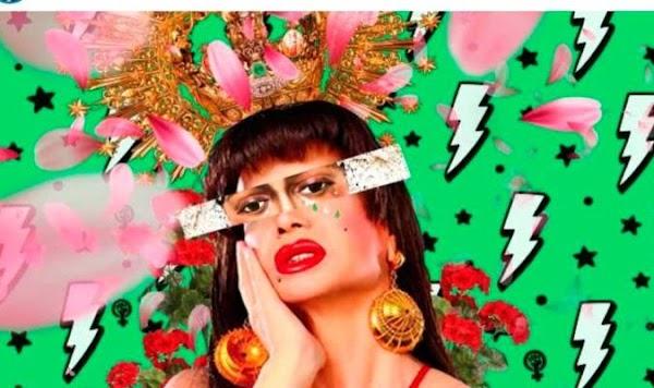 Adelante retira el cartel de 'La Veneno' con ojos y corona de La Macarena