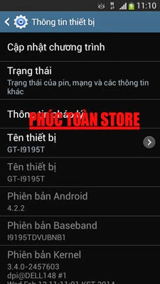 Tiếng Việt Samsung I9195T alt