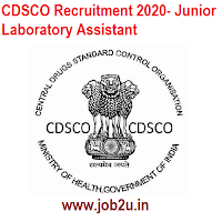 CDSCO Recruitment 2020- Junior Laboratory Assistant