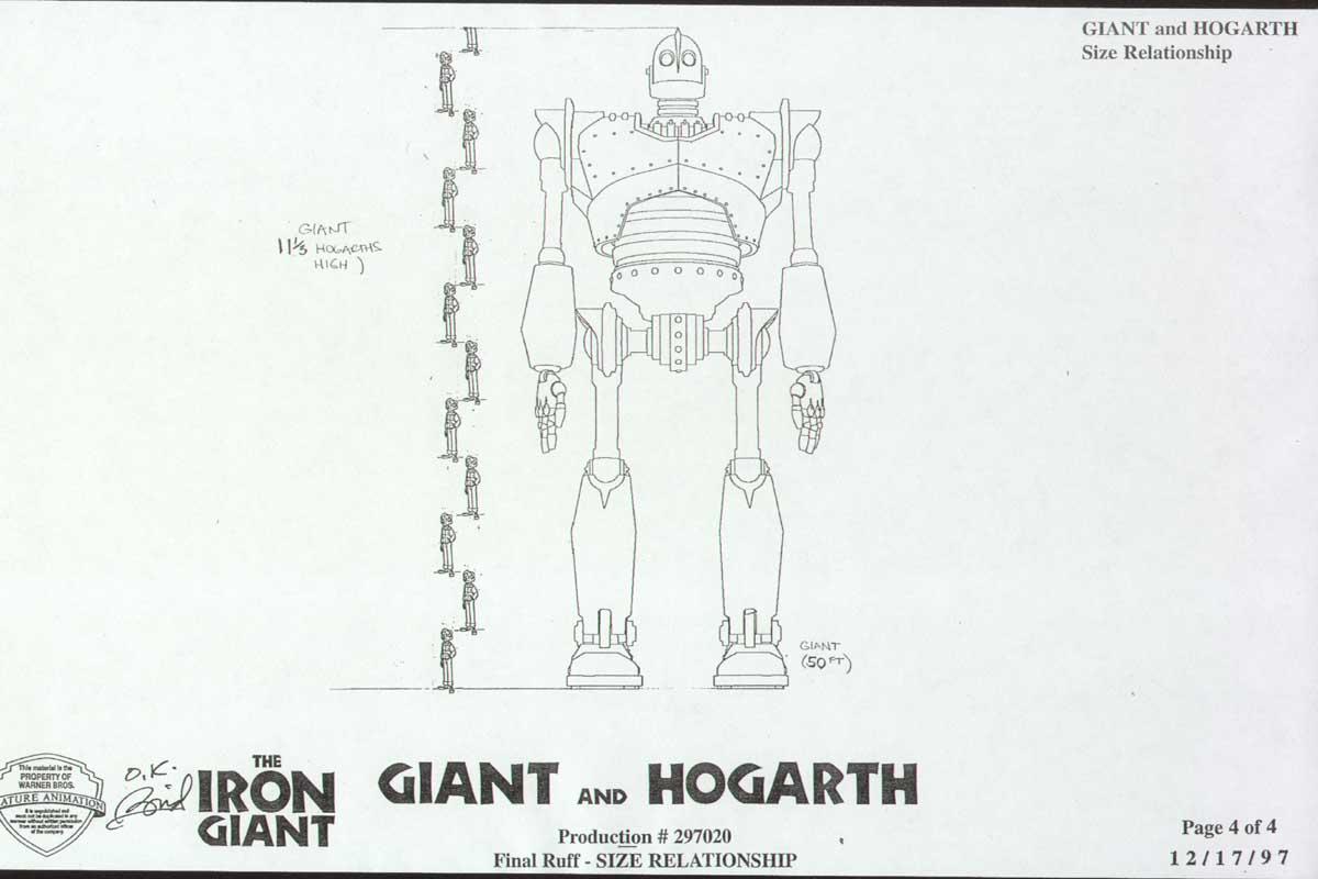 Cartoon Concept Design Iron Giant Model Sheets