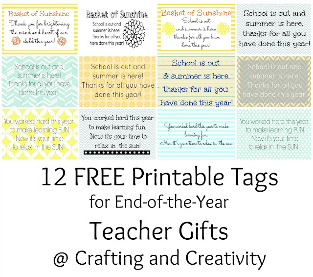Crafting and Creativity: Simple Teacher Gifts + a FREE ...