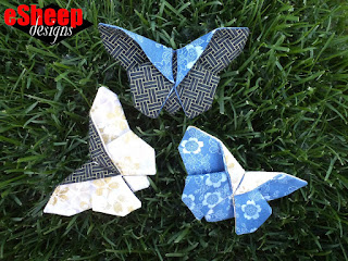 Fabric Origami Butterflies crafted by eSheep Designs
