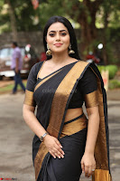 Poorna in Cute Backless Choli Saree Stunning Beauty at Avantika Movie platinum Disc Function ~  Exclusive 091.JPG