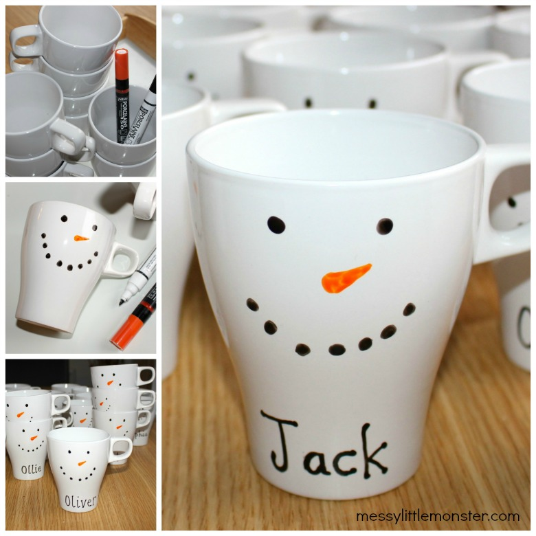 Make your own snowman mug