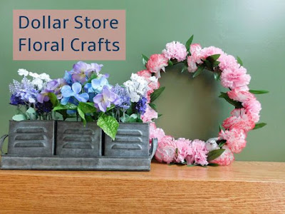 http://www.ourunschoolingjourney.com/2018/03/dollar-store-craft-challenge-using-fake.html