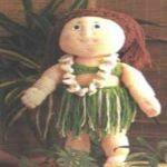 patron gratis muñeca hawaiana amigurumi   free pattern amigurumi Hawaiian doll