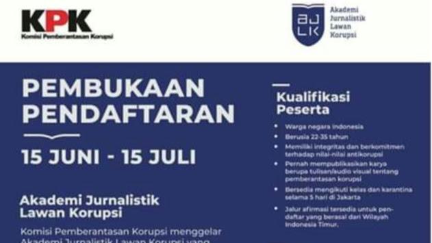 KPK Buka Pendaftaran Akademi Jurnalistik Lawan Korupsi 2020