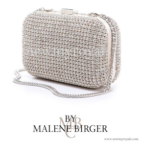 Crown princess Victoria style By Malene Birger Gomati rhinestone clutch