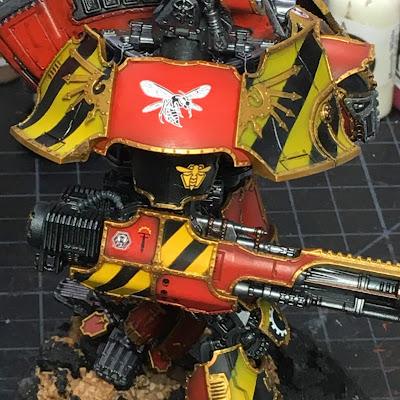 Adeptus Titanicus Legio Ignatum Warlord Titan WIP - right arm detail