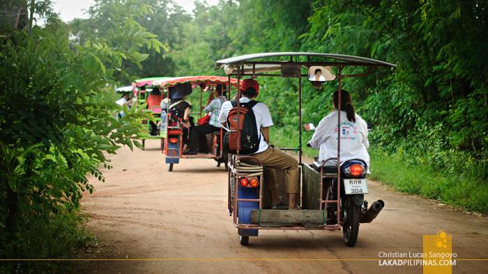 Riding a Saleng at Rayong Thailand