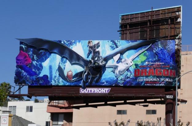 How to Train Your Dragon Hidden World 3D billboard