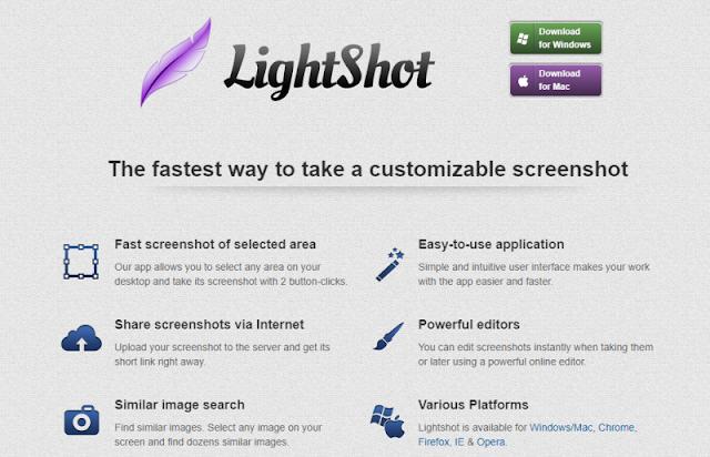 Lightshot aplikasi online screenshot
