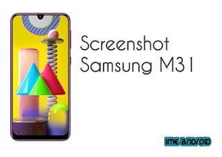 Cara screenshot Samsung A31