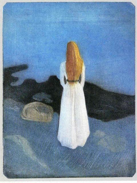 Эдвард Мунк - Девушка на берегу. 1896