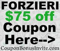 FORZIERI Promo Codes 2021-2122, FORZIERI.com Coupons October, November, December