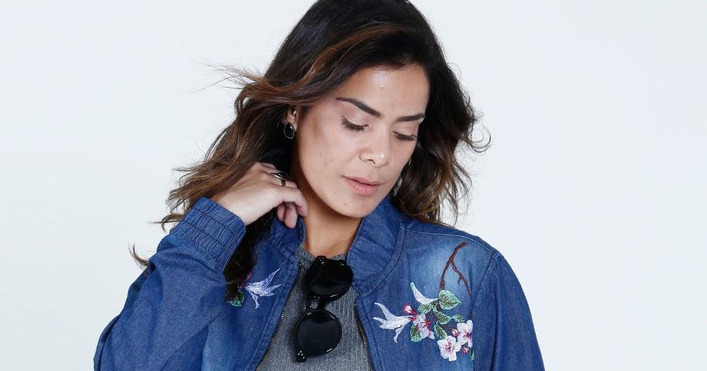 f36af65e7 Moda Jaqueta Feminina Jeans Bomber Bordado Floral Mix Jeans - JP Top