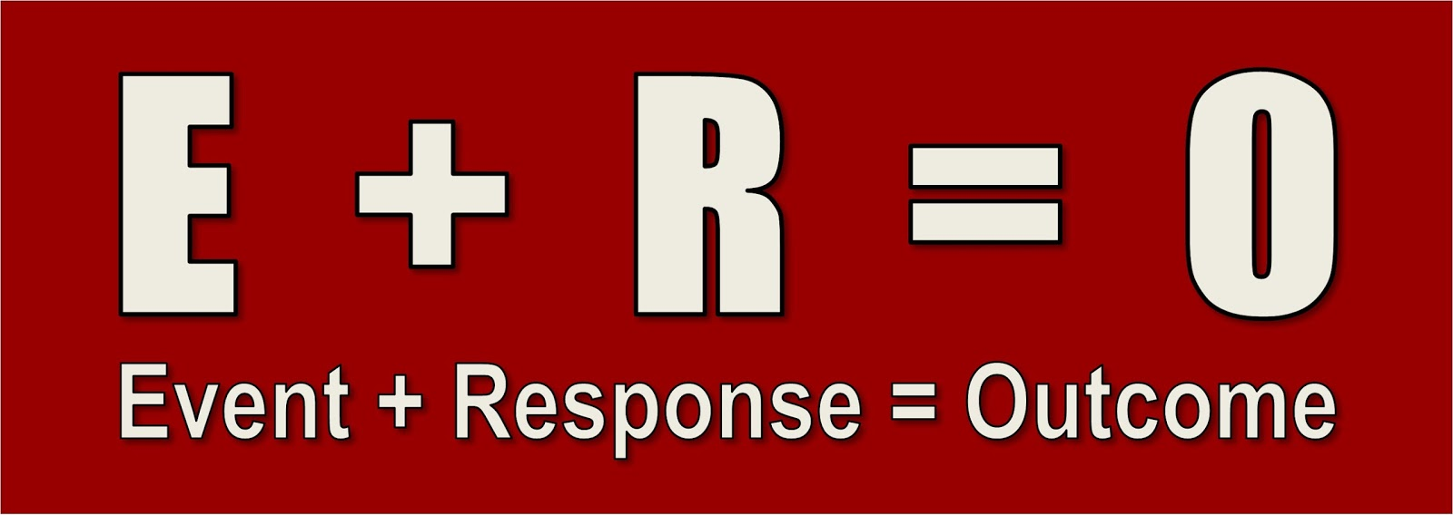 Image result for event + response = outcome
