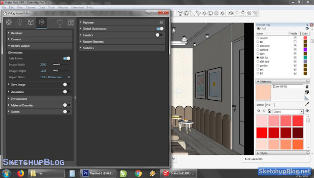 Tutorial Setting Render Output Vray 3 Sketchup