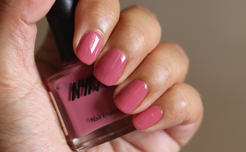 Nykaa Nail polish Dusky Azalea review