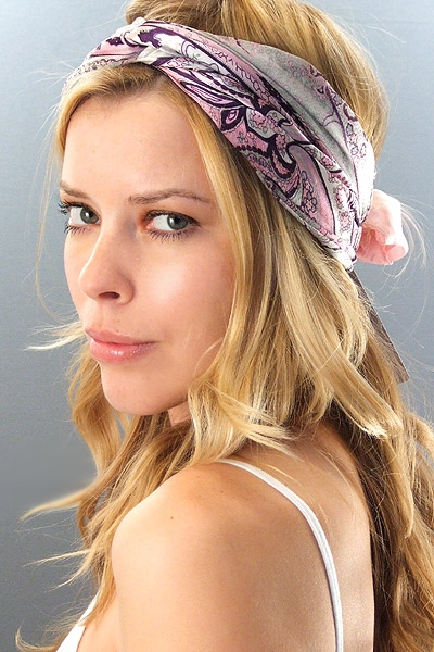 weddings ceremony bandana rocking hairstyle. Black Bedroom Furniture Sets. Home Design Ideas