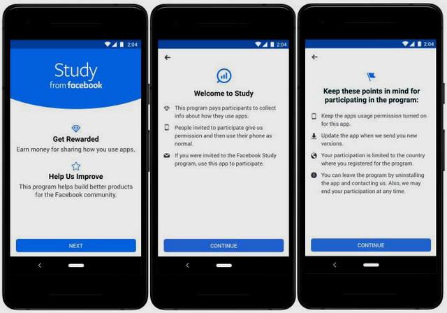 Study تطبيق من فيسبوك يدفع لك مقابل بياناتك