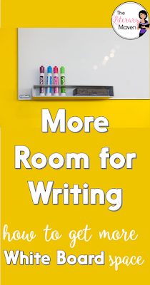 More Room for Writing: How to Get More Whiteboard Space. An easy, inexpensive solution to not having enough white board space in your classroom.