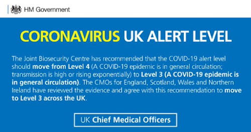 190620 UK covid alert level moved to 3