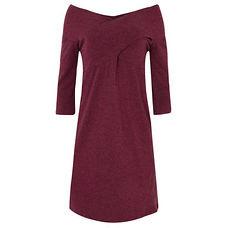 vestido de lã vinho