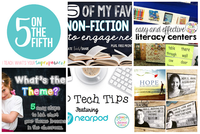 Five on the Fifth: Five awesome posts from five awesome teaching bloggers on the fifth of each month.