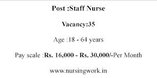 GNM B.Sc Nursing Staff Nurses Jobs 30,000 Salary