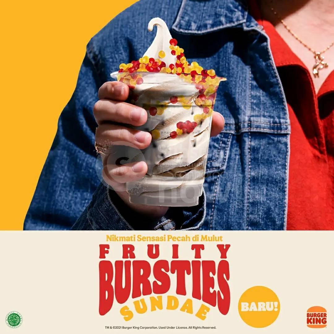 Baru!! Burger King FRUITY BURSTIES SUNDAE 3