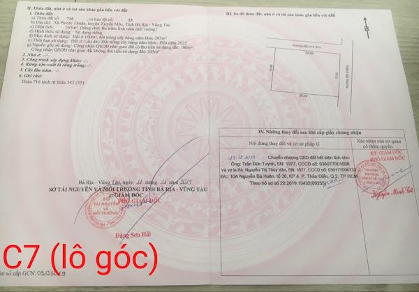 sổ giấy tờ pháp lý đất đang bán trong dự án Happy Garden Hồ Tràm