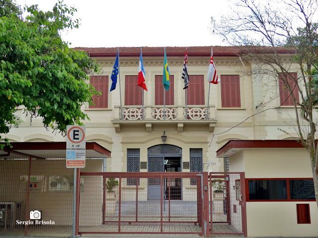 Vista da entrada do Liceu Pasteur - Vila Mariana - São Paulo