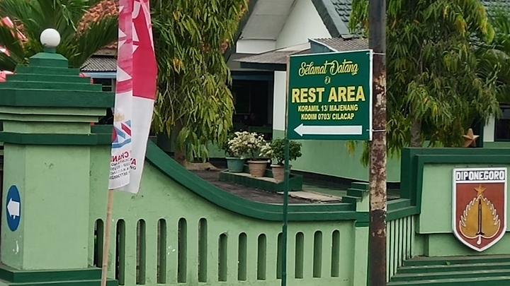 Koramil 13/ Majenang Siapkan Rest Area Untuk Pemudik Lebaran