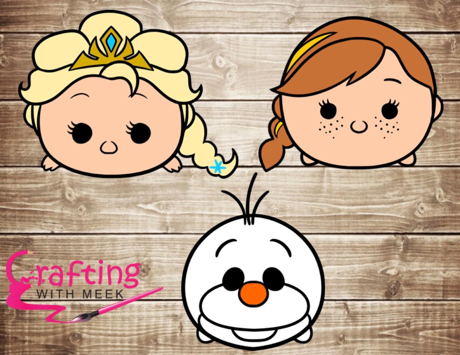 Como Dibujar Y Pintar A Tsum Tsum De Ariel 2: Crafting With Meek: Tsum Tsum Frozen