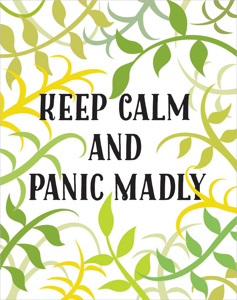 Keep calm & panic madly