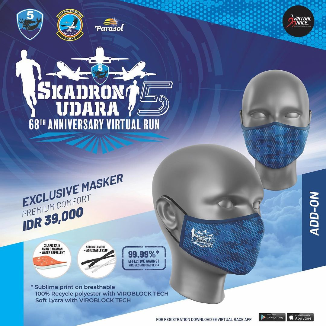 Masker 😷 Skadron Udara 5 Virtual Run • 2021