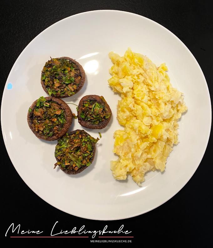 Gebackene Champignons mit Kartoffel-Sellerie-Püree