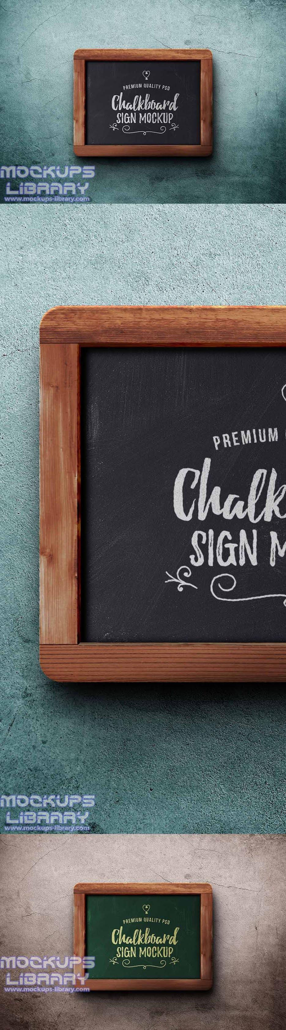 chalkboard sign mockup