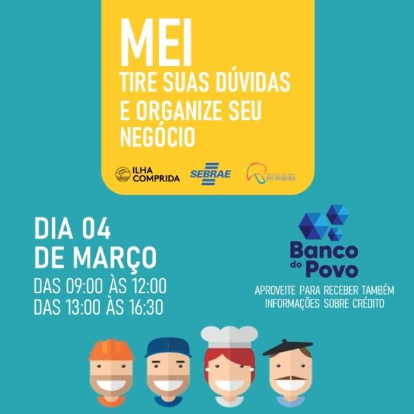DIA DO MEI NA ILHA SERÁ QUINTA 04/03